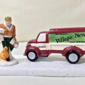 Snow Village VILLAGE NEWS DELIVERY Deparment 56 Ce